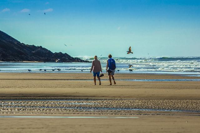 procházka na pláži
