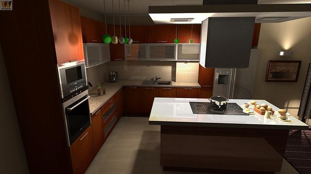 kuchyně s ostrůvkem